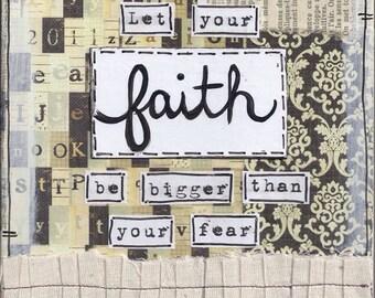 Let your faith... 8x8 Mixed Media Art Print
