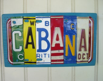 CABANA License Plate Sign