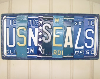 US NAVY SEALS License Plate Sign