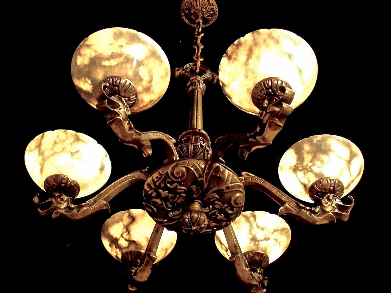 Light fixture chandelier solid bronze real white alabaster circa light fixture chandelier solid bronze real white alabaster circa 1920 arubaitofo Choice Image