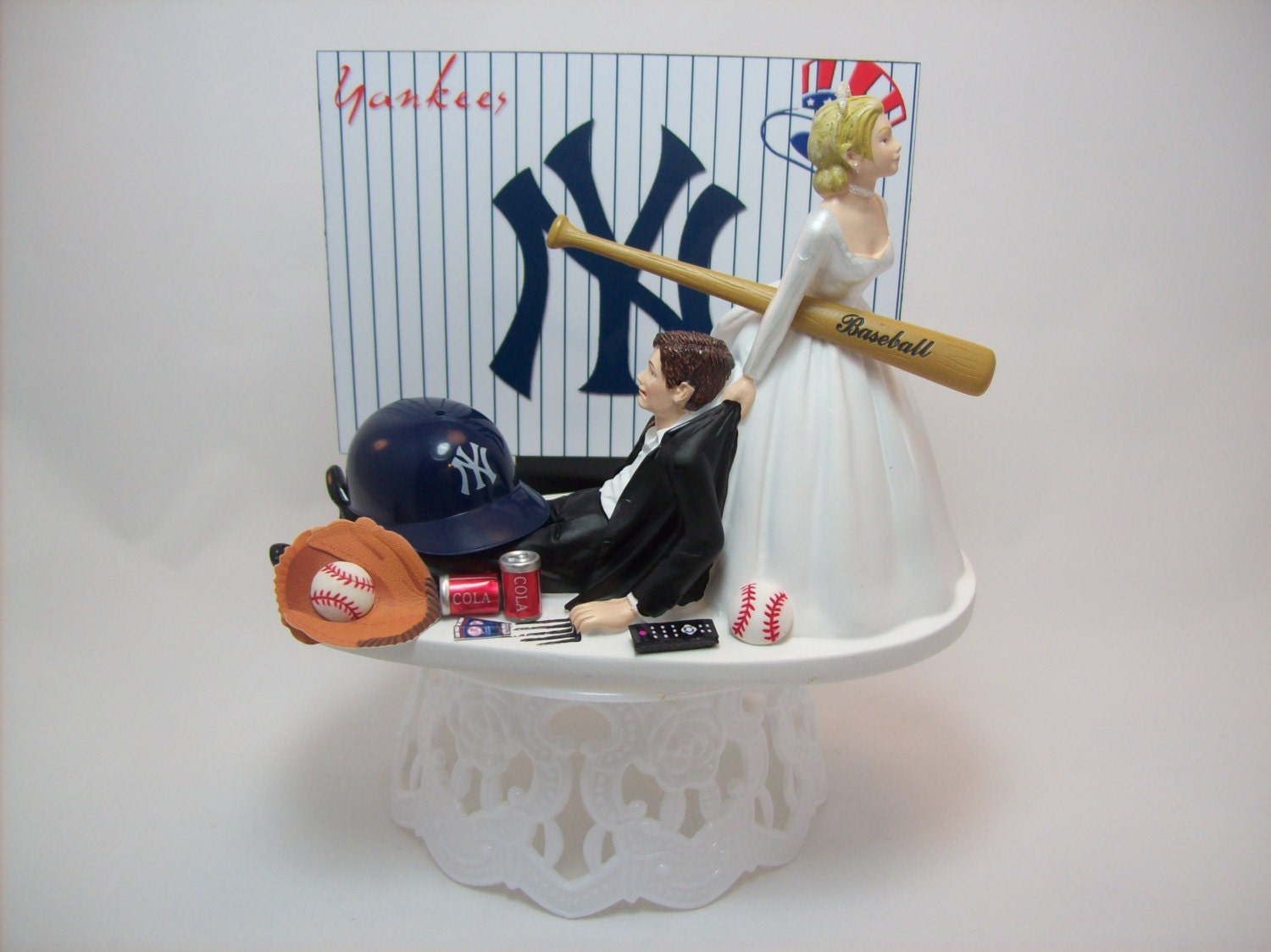 BASEBALL YANKEES Or Your Team Bride And Groom Funny Wedding
