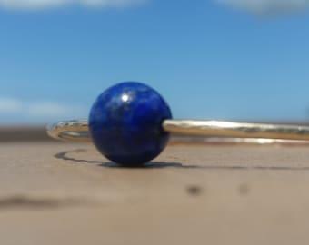 Lapis Lazuli gold bangle