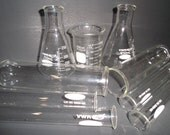 A Collection Of Glass Beaker Tubes Including Pyrex