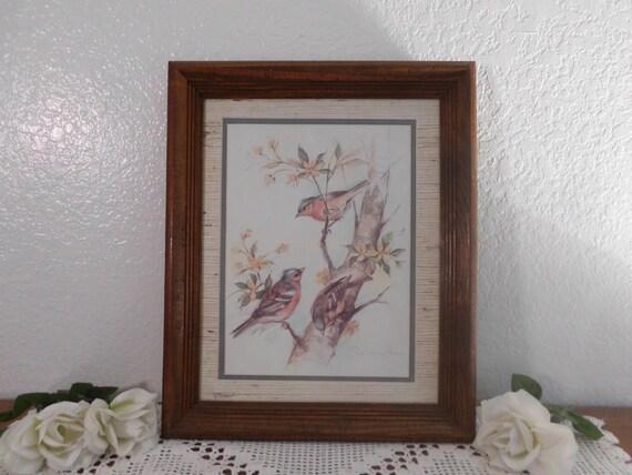 Vintage Bird Print Paul Whitney Hunter Autographed Signed Wood
