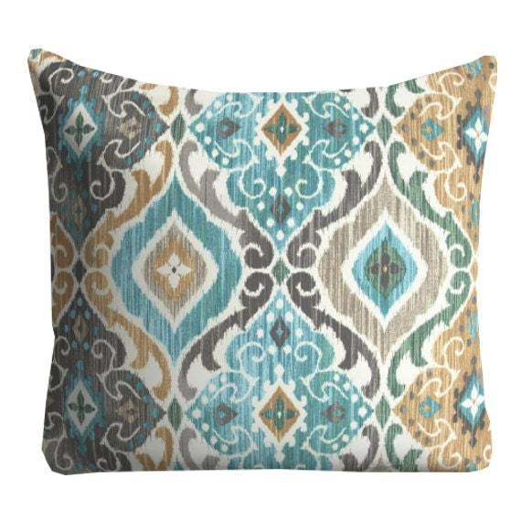 Coral Throw Pillows Etsy : Items similar to Outdoor Pillows, Blue OUTDOOR Pillows, Outdoor Throw Pillows, Blue Patio ...