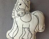 DoodleIts - Doodle It - Horse - Pony - Washable Softie - Plushie