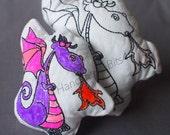 DoodleIts - Doodle It - Dragon - Fire Breathing - Washable Softie - Plushie