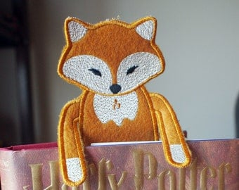 Bookmark - Animal - Fox  - Felt Book Mark - Kids and Book Lovers - Personalization - Personalized