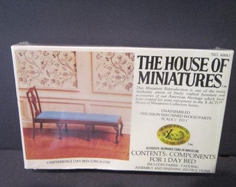 Chippendale Day Bed Dollhouse Furniture 40043 Vintage The House Of Miniatures Kit