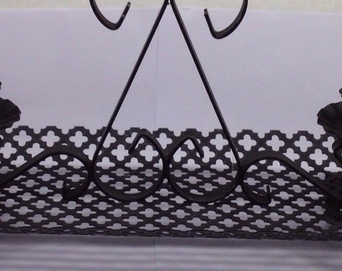 Featured listing image: Black Metal Mesh Candle Holder Home Decor