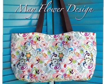 Lovely Small Handmade Bag / Handbag /  Colorful Rhinestone Summer Bag / Small purse