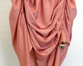 Tucked Steampunk Skirt - 2- tone linen blend