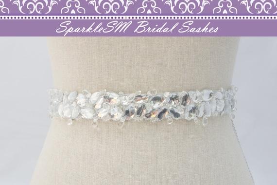 Crystal Bridal Sash, Wedding Sash, Crystal Belt, Jeweled Bridal Sash, Bridesmaids Sash, Jeweled Bridal Belt, Bridal Dress Sash, Prom Sash