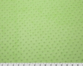 Lime Dimple Minky From Shannon Fabrics