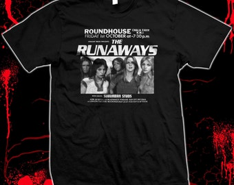 The Runaways - Joan Jett - Cherie Currie - silk screened 100% cotton t-shirt