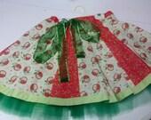 Girls Alternating Panel Circle Skirt with Petticoat Size 7