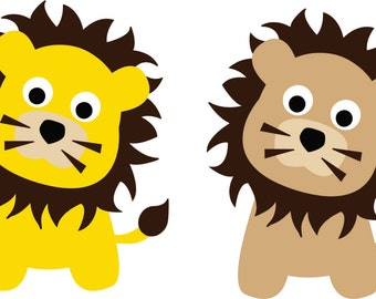 Lion Decal - Jungle Wall Decal - Childrens Wall Decal -  Lion Wall Art - Wall Decal