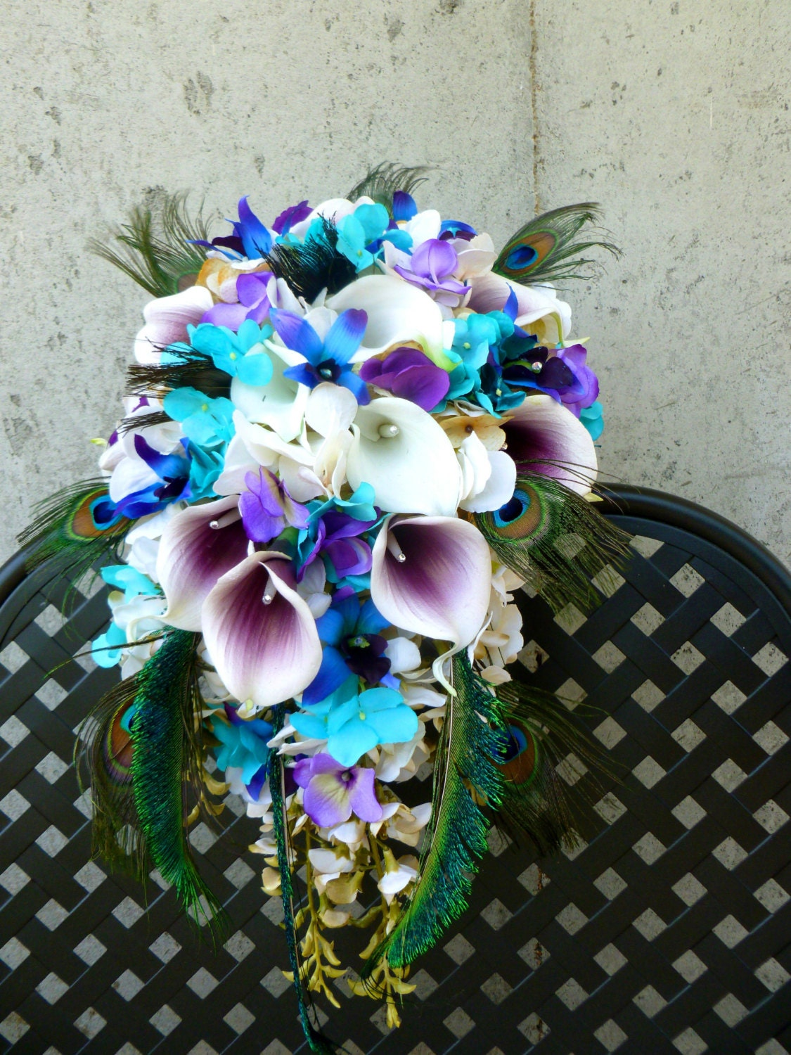 Real Blue Orchid Flower