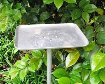 Metal Bird Feeder - Rectangular Tray feeder - platform bird feeder