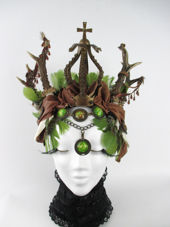 fairy faun headpieces wald fee g ttin geweih h rner. Black Bedroom Furniture Sets. Home Design Ideas