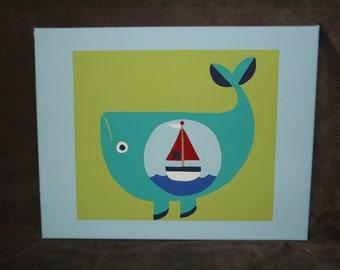 Modern Fish with a Twist 14x11 Canvas