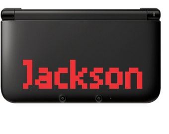 8bit Name for 3ds XL Vinyl Decal, New 3ds xl, sticker, personalized, decal, vinyl