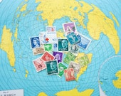vintage stamps international set of 20
