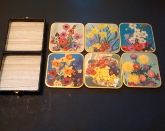 Set of 6 Win-El Ware Coasters and Case