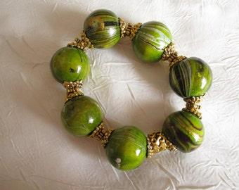 Bracelet en bois de manguier de Bali. crées pour moi