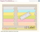 ON SALE Digital Label, 12 scrapbooking label.L-01 , Instant download
