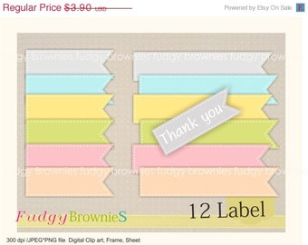 ON SALE Digital Label, 12 scrapbooking label.L-01 , Instant download