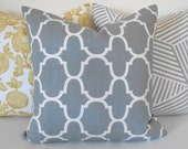 Clearance Gray moroccan quatrefoil geometric decorative pillow cover,  gray throw pillow