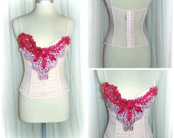 20% off  etsy675  Ooak  vintage burlesque corset...couponcode SALEFORYOU