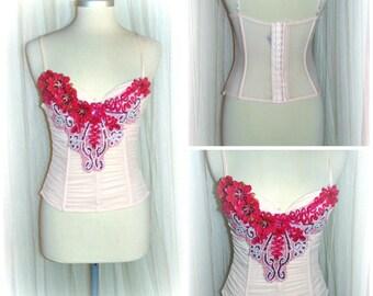 etsy675  Ooak  vintage burlesque corset..