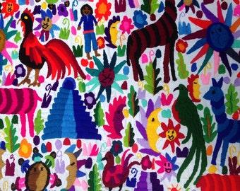 Large Guatemalan Embroidered Wall Hanging