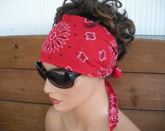 Women's Headband Fabric Headband Summer Fashion Accessories Women Headscarf Hair Wrap Headwrap Bandana in Red  - Choose color