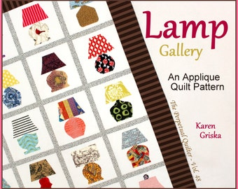 Lamp Gallery Quilt Pattern, Applique Quilt, Wall Quilt, Twin Quilt, Easy Quilt, Instant Download, qtm