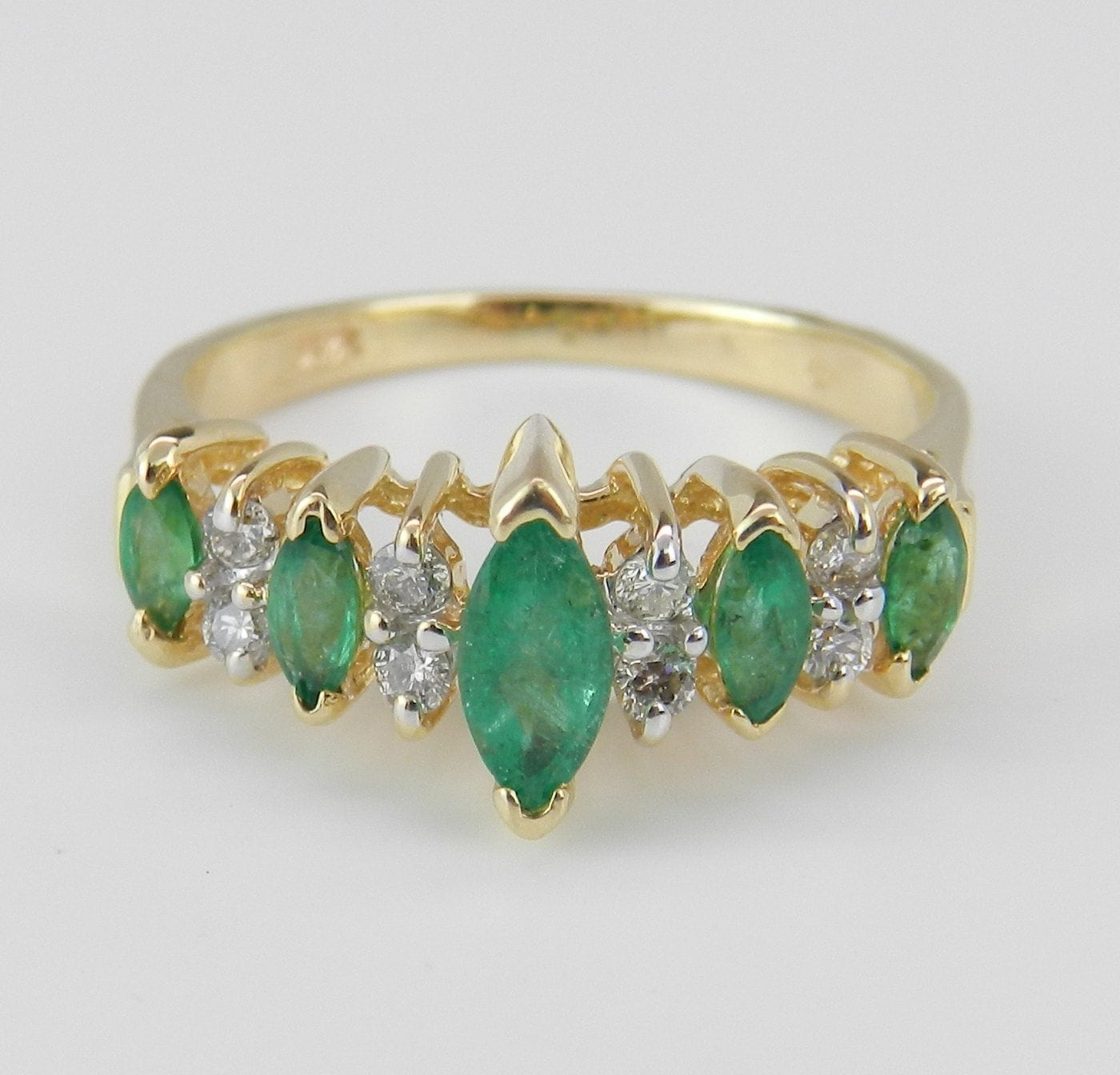 and green emerald wedding ring anniversary by