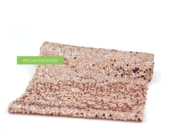 "ROSE GOLD Sequin Table Runner 12"" x 96"""
