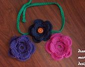 Baby Flower Headband - You Choose Colors - THREE Flowers - Toddler Headband