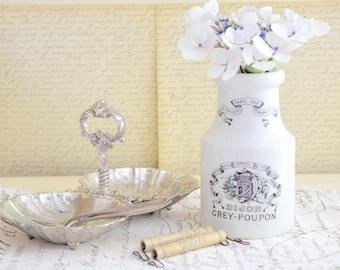 Vintage French Dijon Grey Poupon Mustard Jar