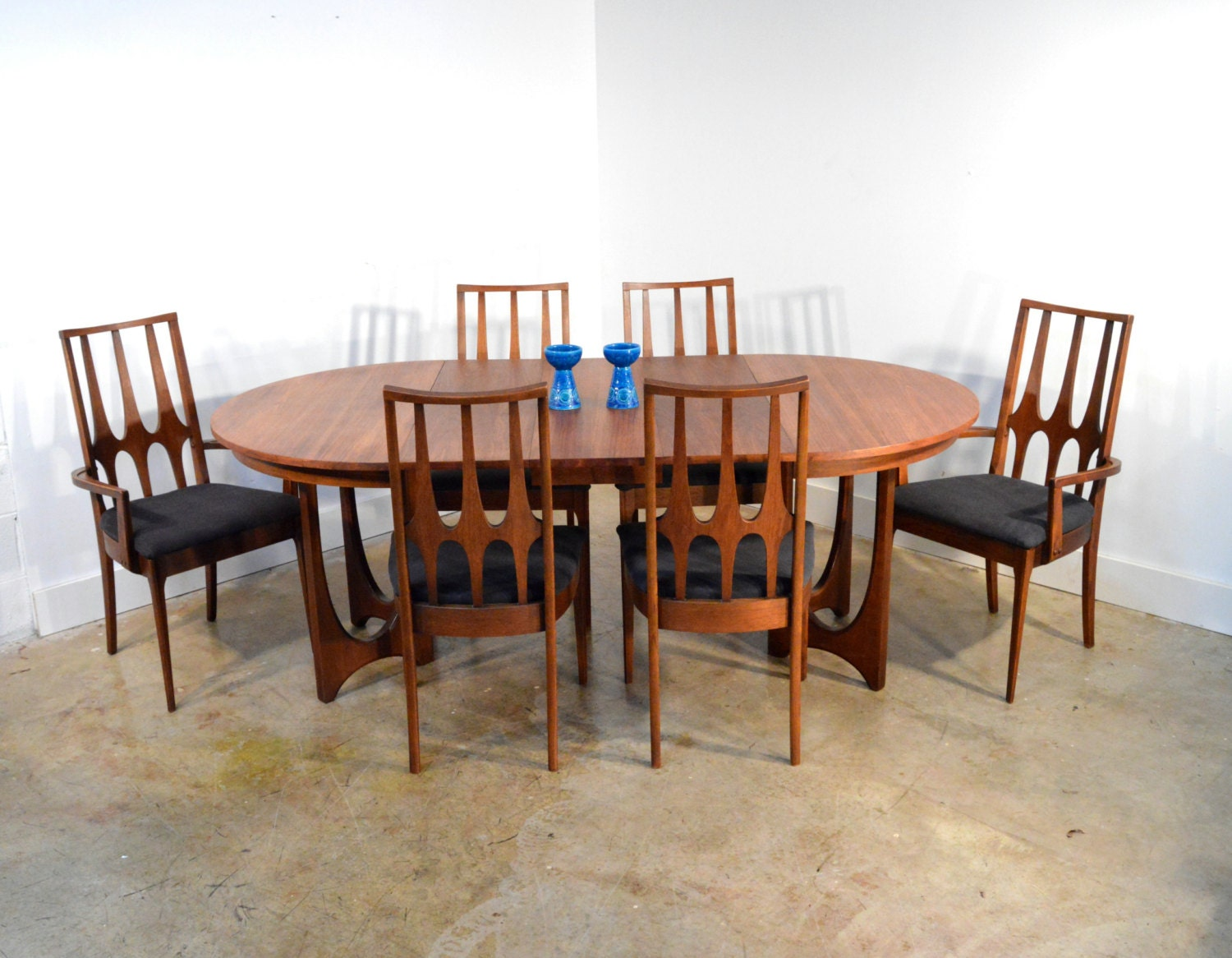 dining table and chairs mid century modern walnut dining set haute