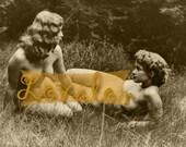 MATURE... Naked... Instant Digital Download... Vintage Erotic Photography... Vintage Nude Photo