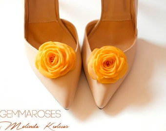 Yellow Shoe Clips - made to order