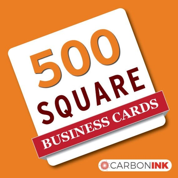 500 Square Business Card Printing Mini Business By Carbonink