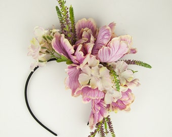 Hydrangea And Peony Floral Hairband