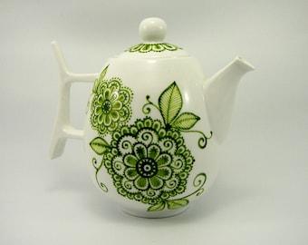 Hand Painted ceramic teapot