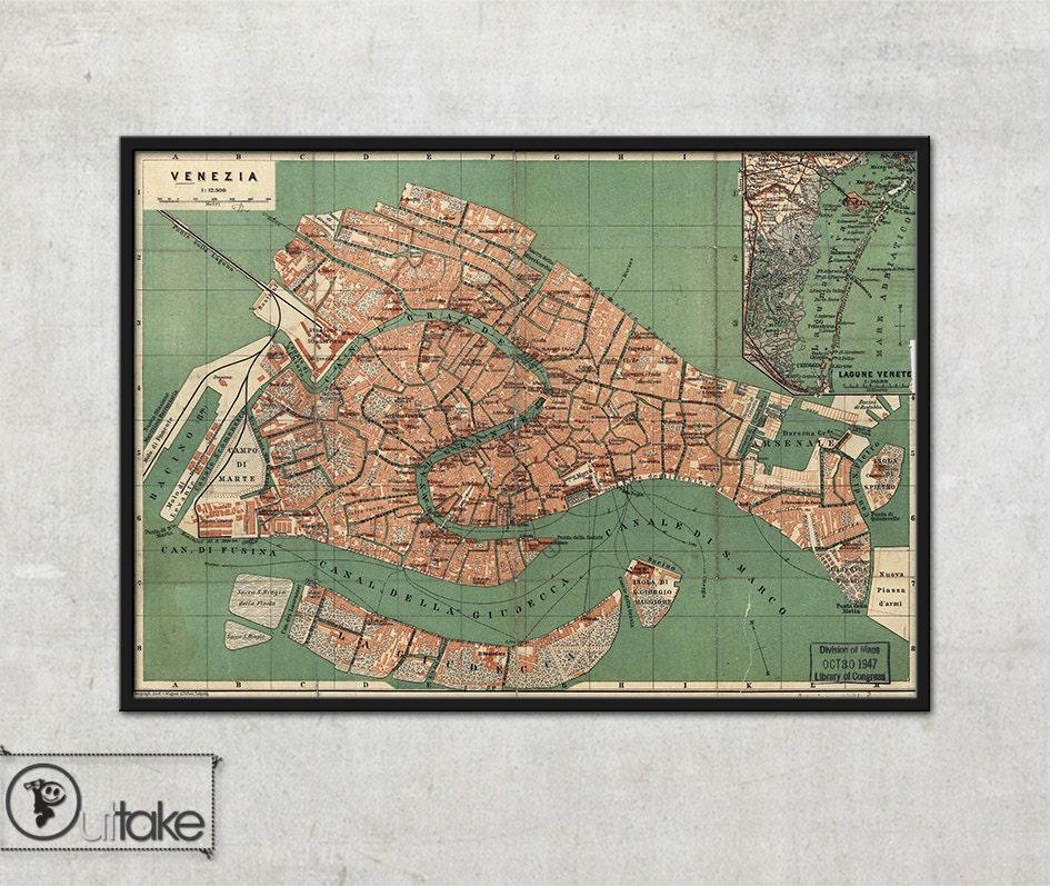 Wall Map Of Venice Italy Interior Map Design Home Decor
