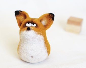 Felt doll - Toy - Handmade toys - Felt toys - Needle felting - Figurines - Gifts for her - gifts for men - Fox - Toys - Personalised gifts