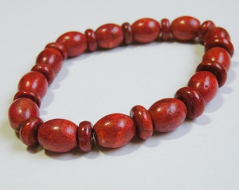 56 Natural Sponge Coral focal oval barrel and rondelle beads 13x11mm 10x4mm 12x5mm POM45